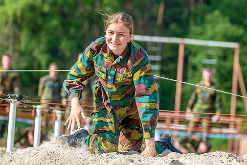 La princesa durante su entrenamiento militar.