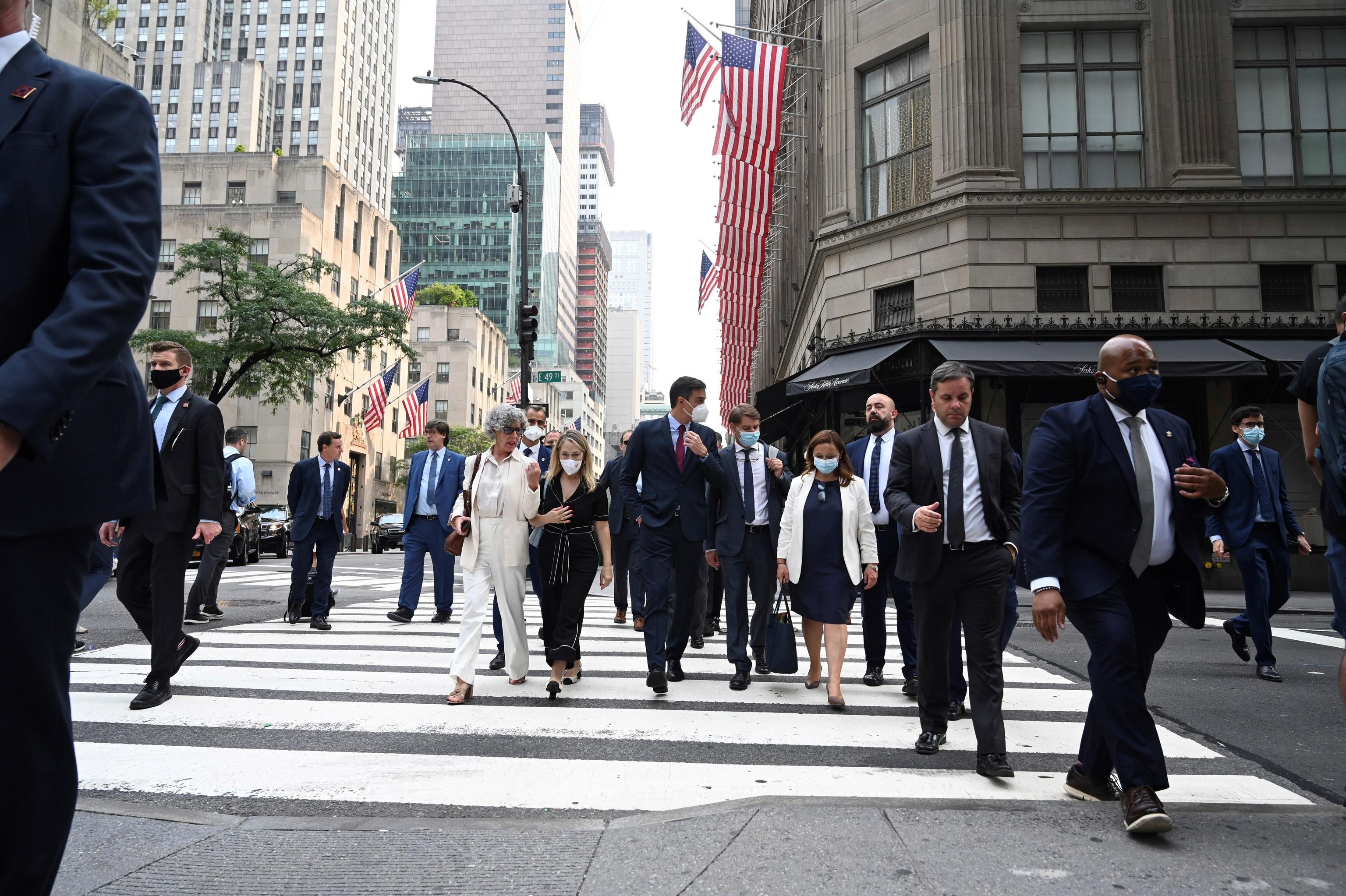 Pedro Sánchez, este miércoles, en Nueva York.