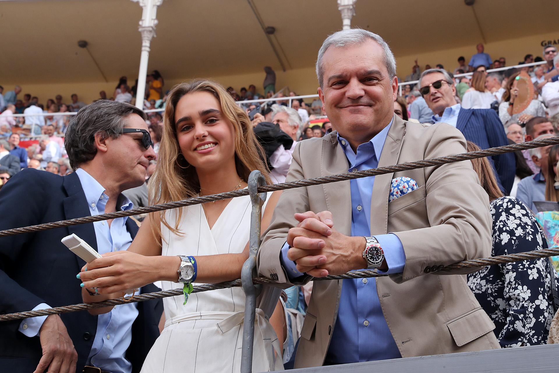Ramón García, junto a su hija Natalia, en 2019.