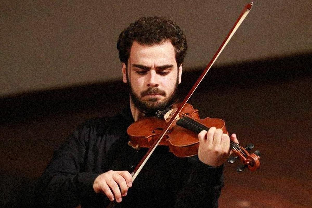 Pablo Díaz, en uno de sus últimos conciertos de violín.