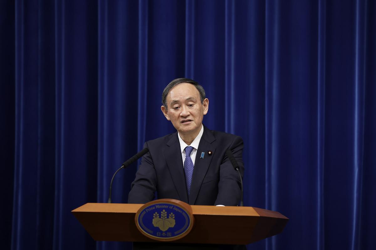 El primer ministro japonés, Yoshihide Suga.