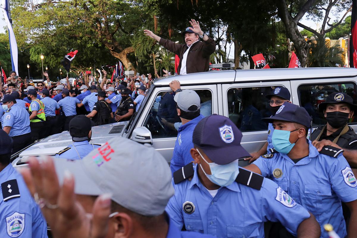 Daniel Ortega, en Managua.