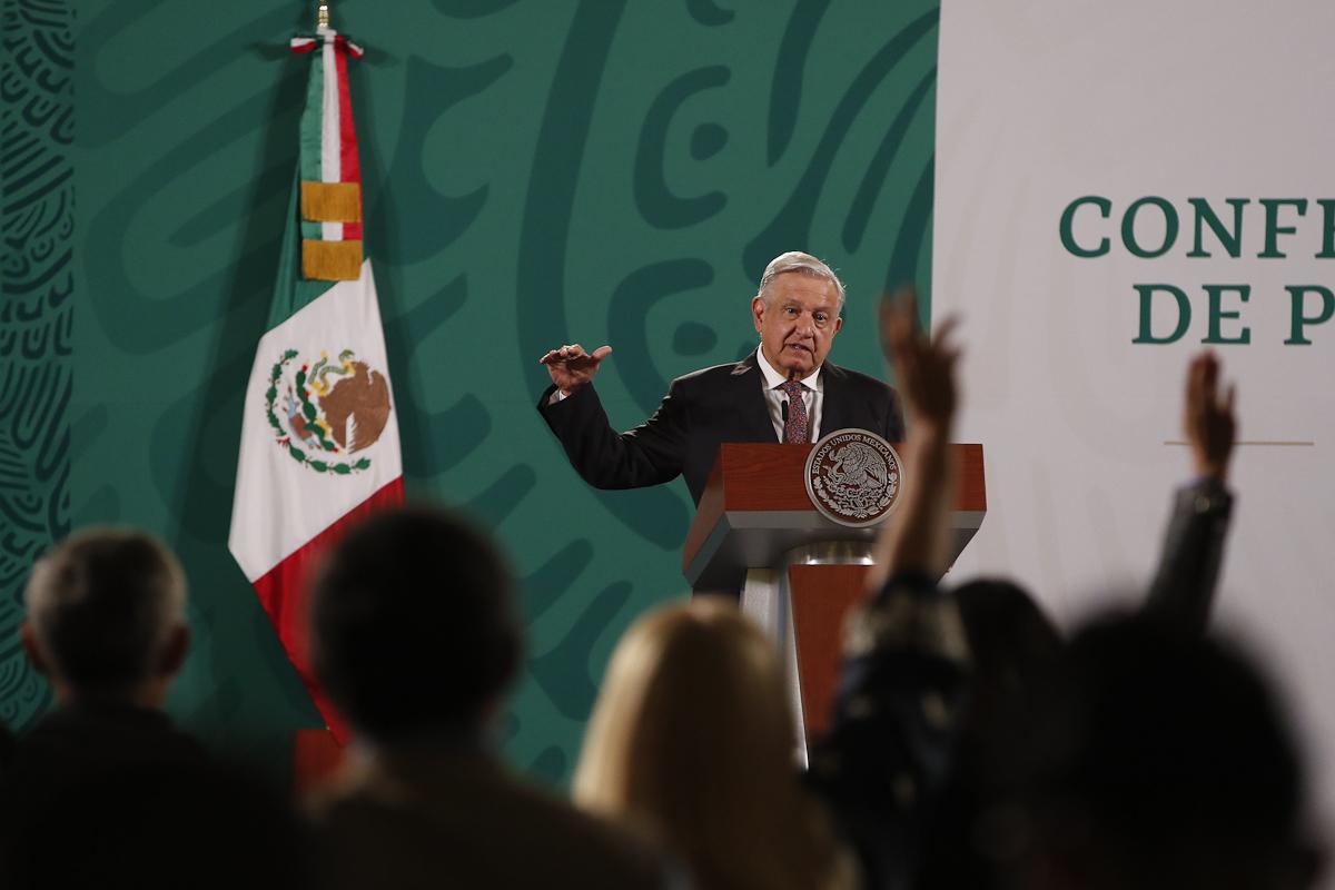 Andrés Manuel López Obrador, en una rueda de prensa.