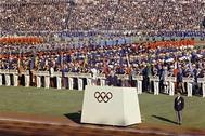 Ceremonia inaugural de los Juegos de 1964.