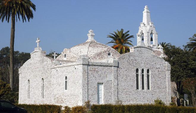 La famosa Capilla de las Conchas de la isla.