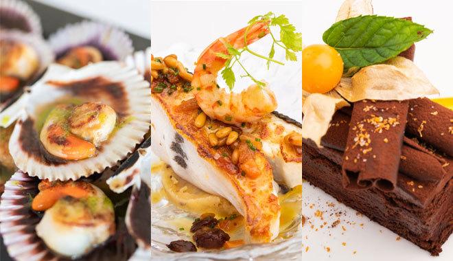 Varios platos del hotel de la cadena Eurostars.
