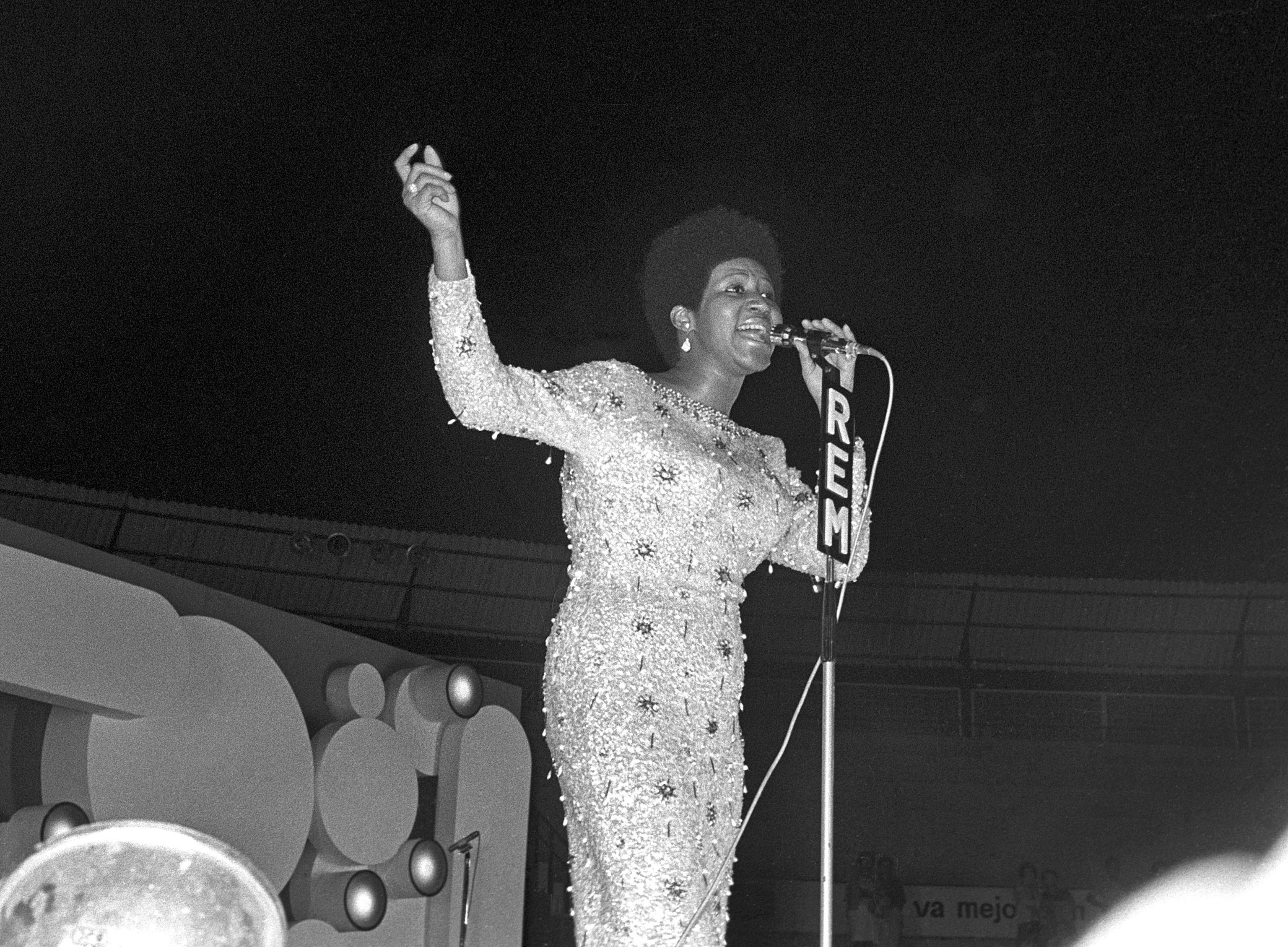 Aretha Franklyn, en 1973.