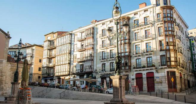 Casco antiguo de Santander.