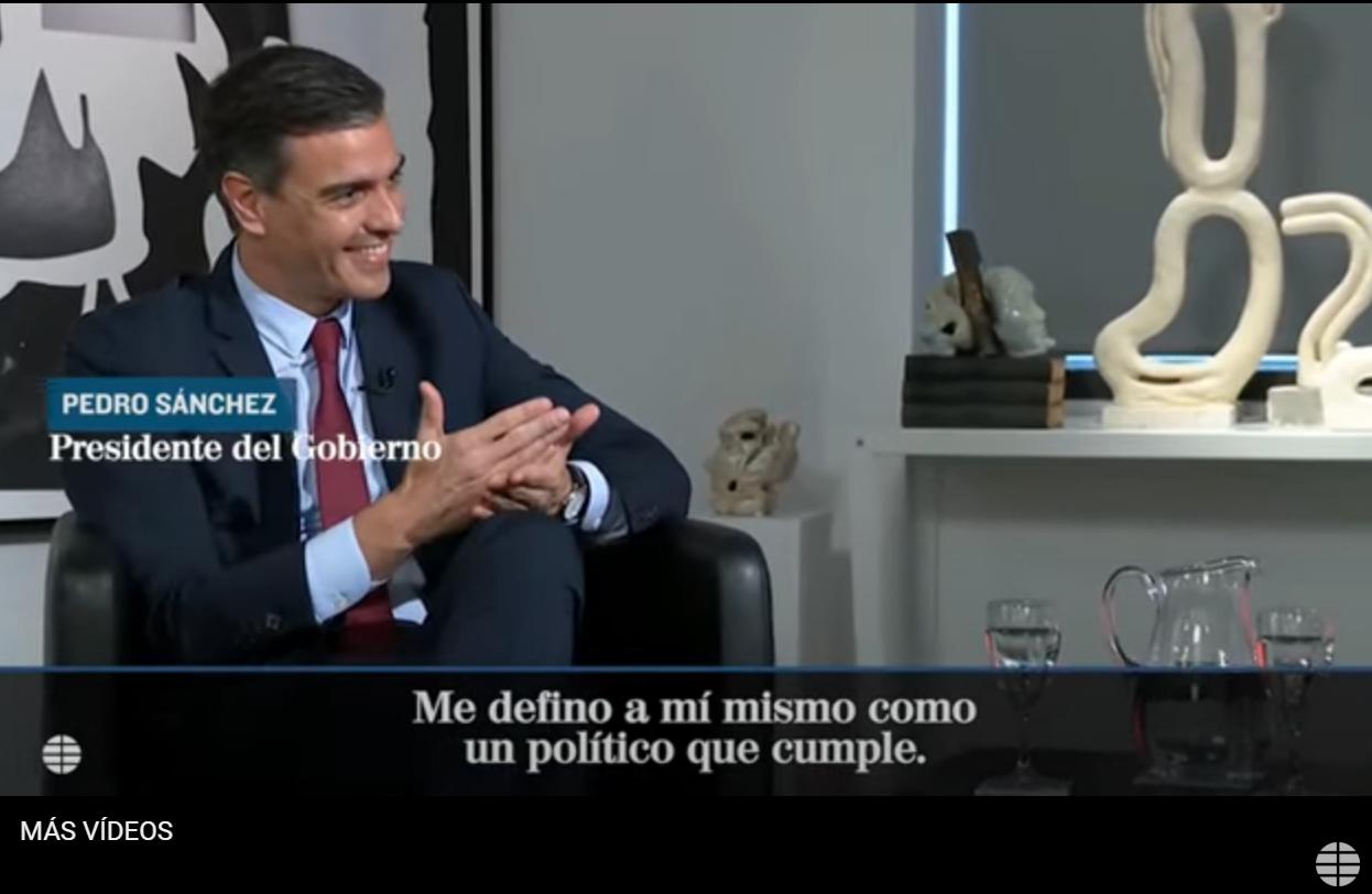 El presidente durante una entrevista en EEUU.