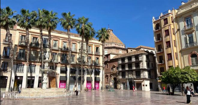 La plaza de la Constitución de Málaga.