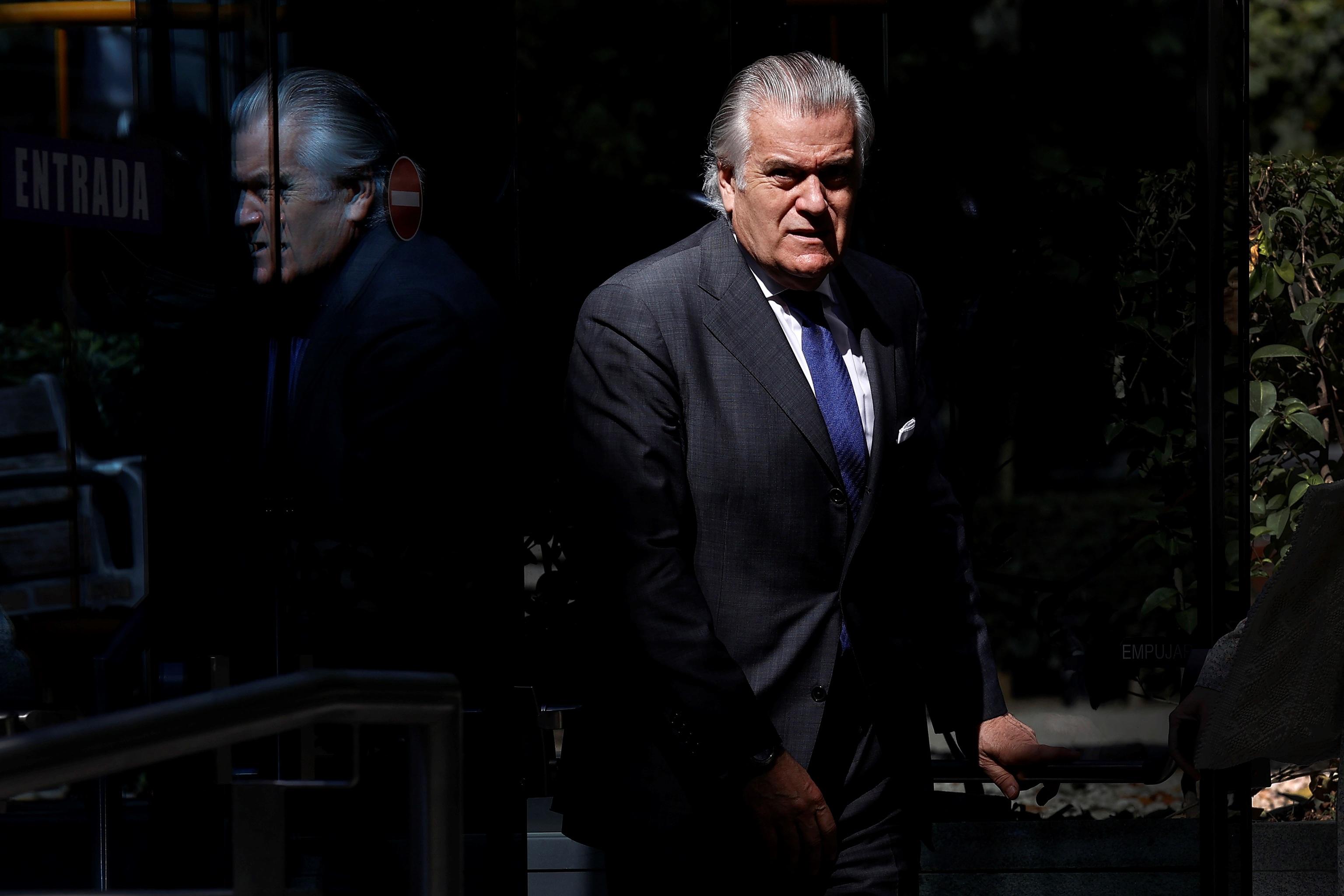 Luis Bárcenas, el pasado 16 de julio tras declarar en la Audiencia Nacional.
