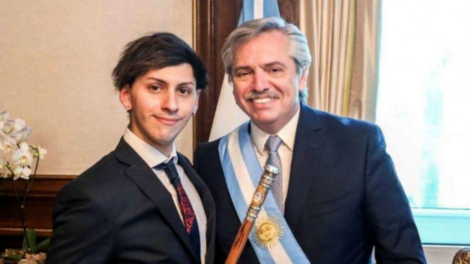 Alberto y Tani Fernández en la toma de posesión del primero como presidente de la Argentina