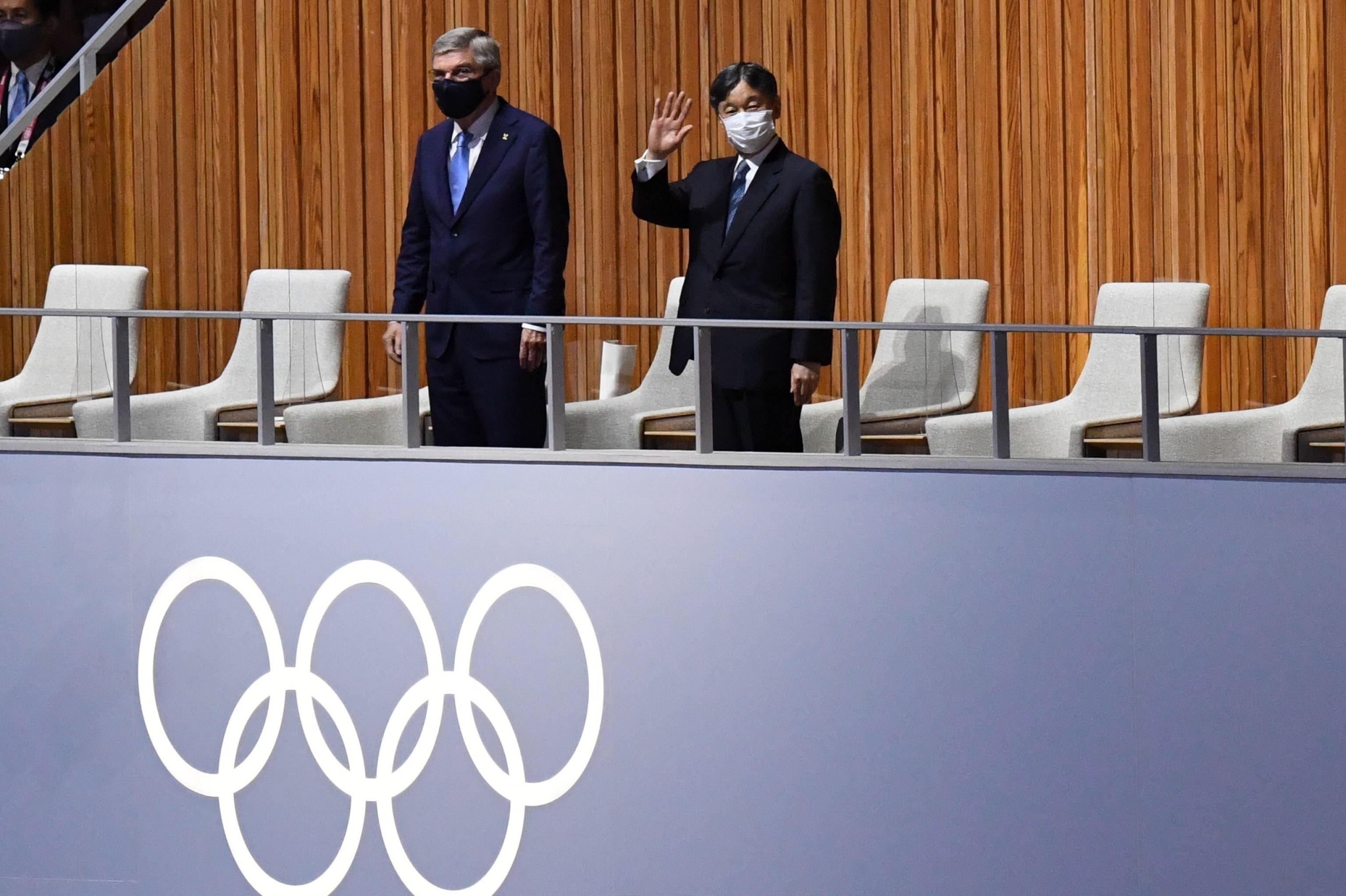 Naruhito de Japón en la ceremonia de inauguración de los JJOO de Tokio