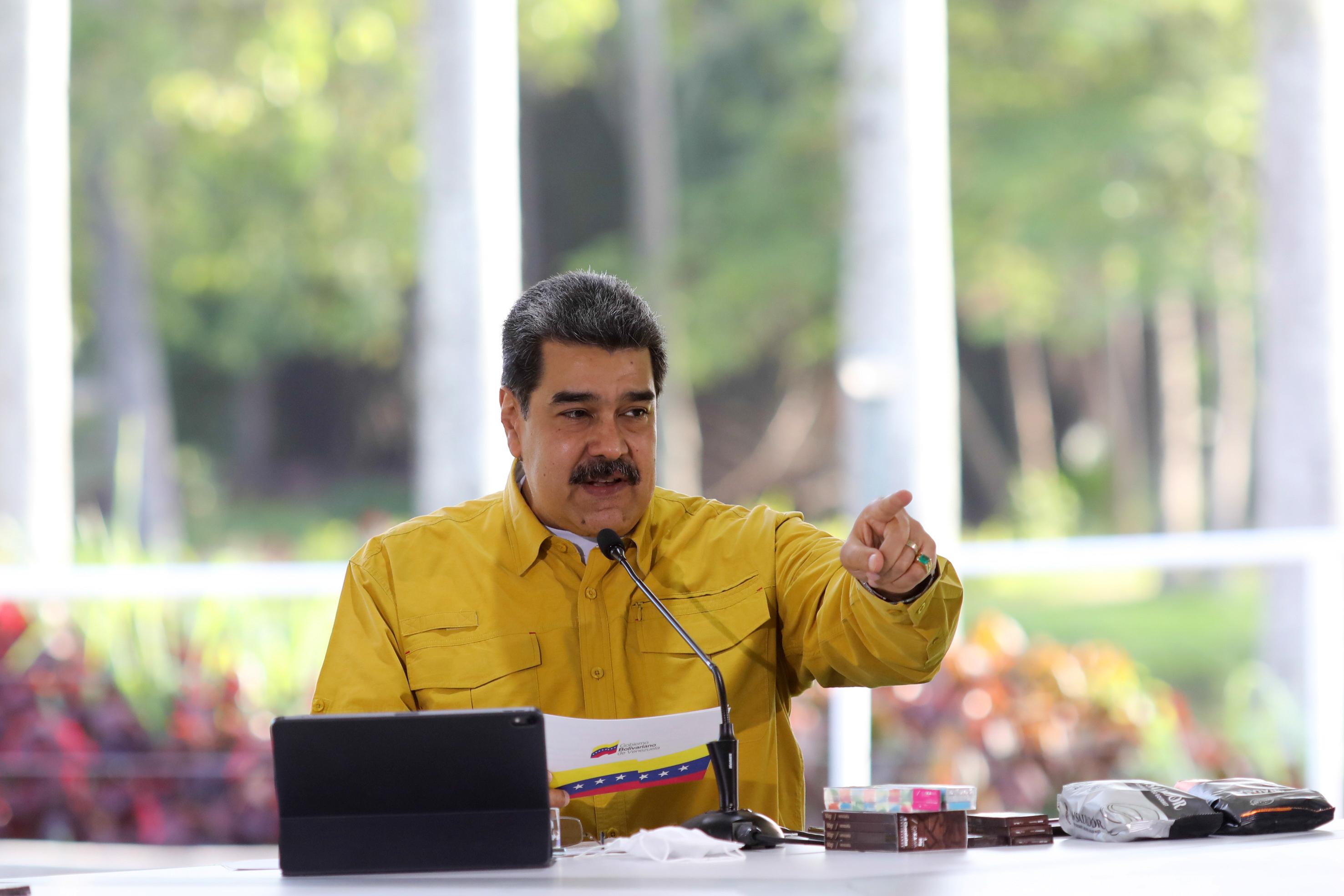 Nicolás Maduro, en un acto en Caracas.