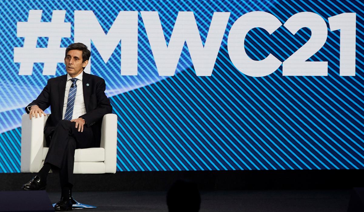 El presidente de Telefónica, José María Álvarez-Pallete, en la inauguración del último Mobile World Congress en Barcelona