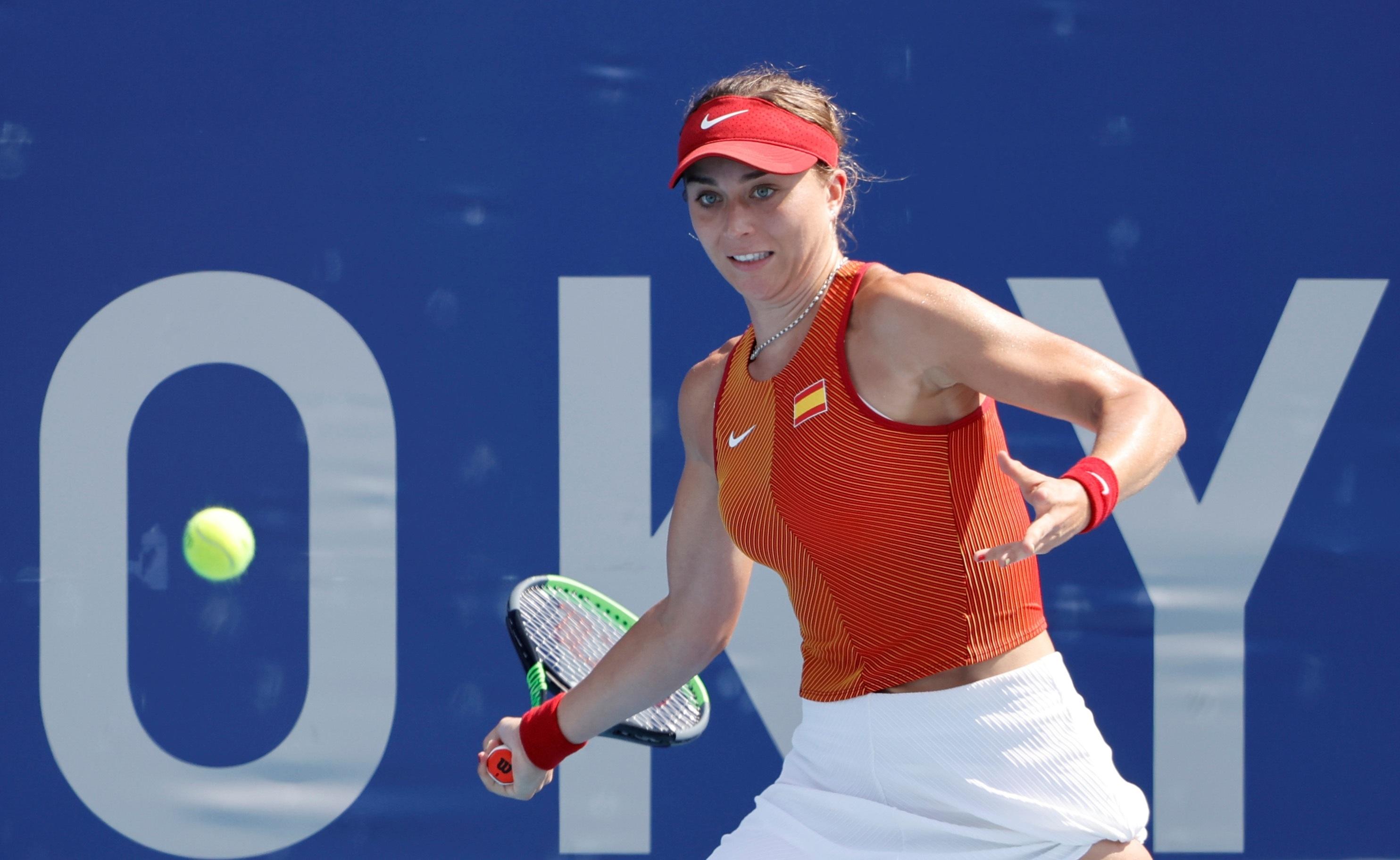 Paula Badosa, durante su partido.