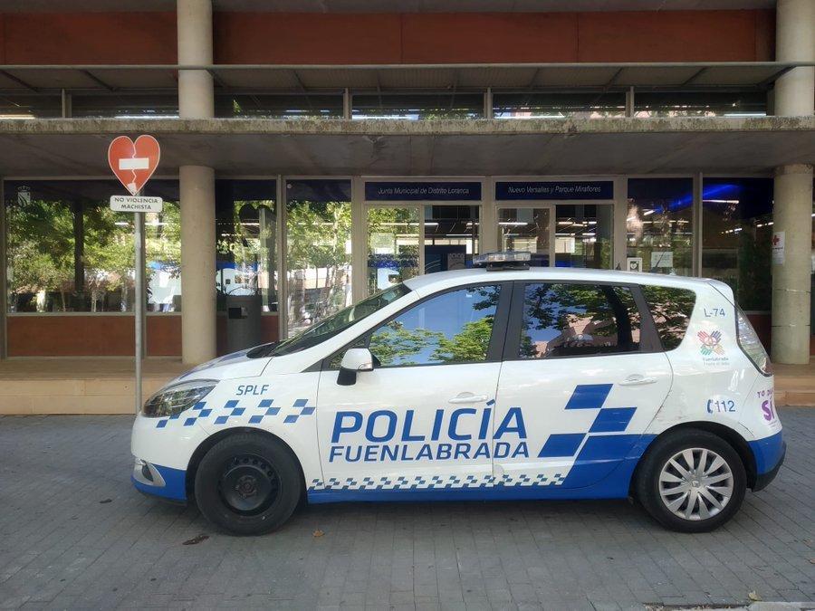 Un coche de la Policía Municipal de Fuenlabrada.
