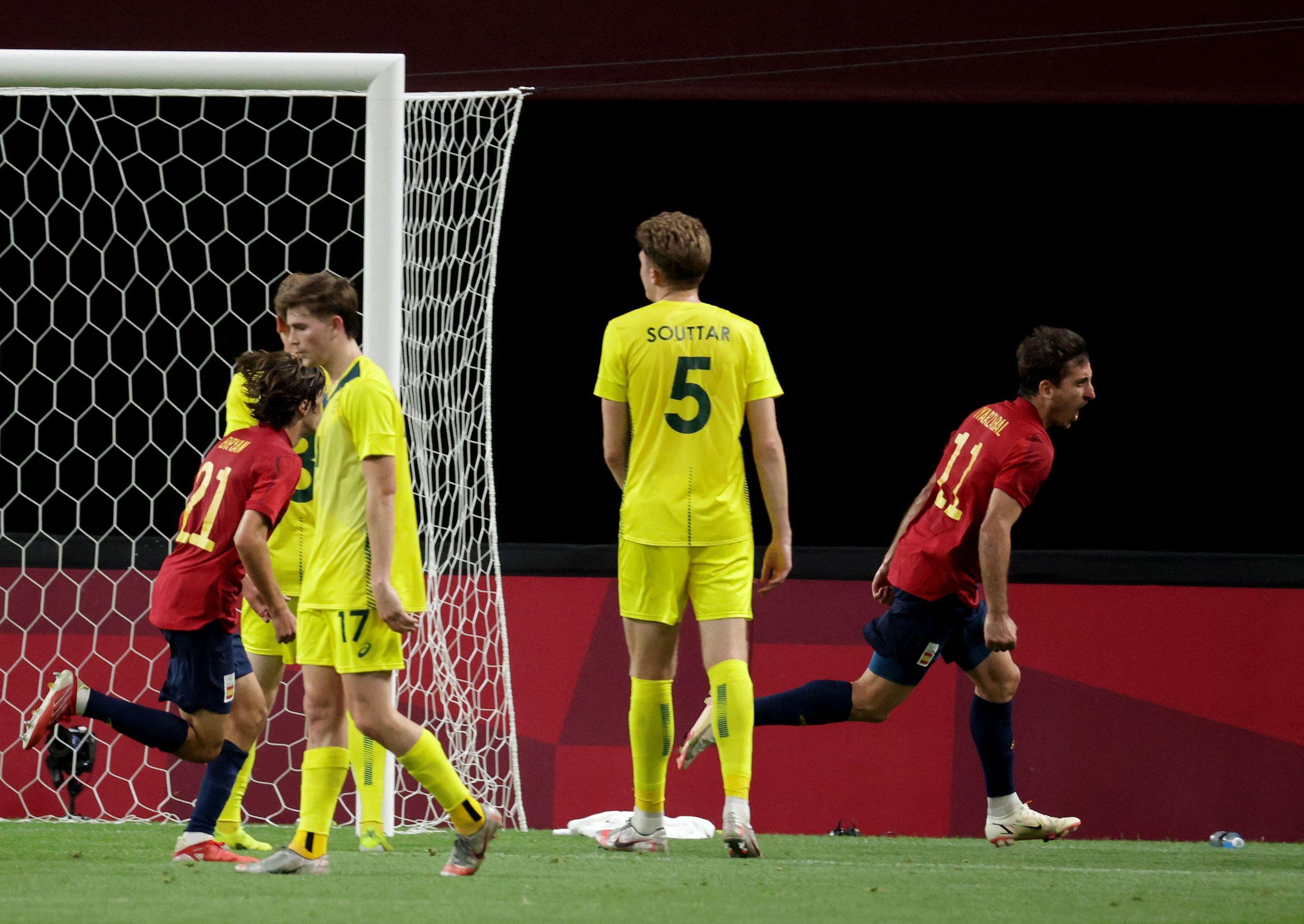Oyarzabal celebra su gol ante Australia.