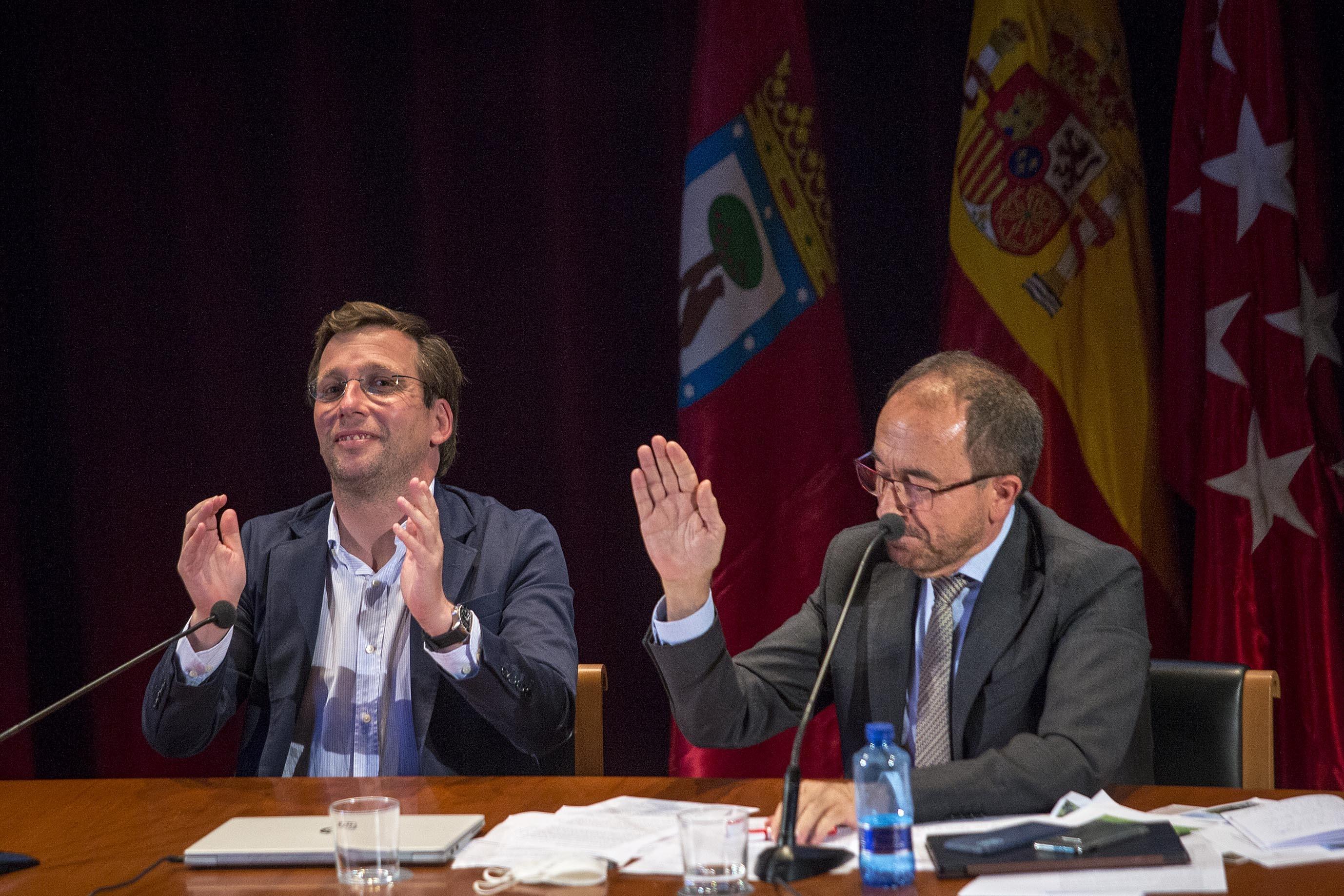 Almeida y Perelló, después del reconocimiento de Patrimonio Mundial a Madrid.