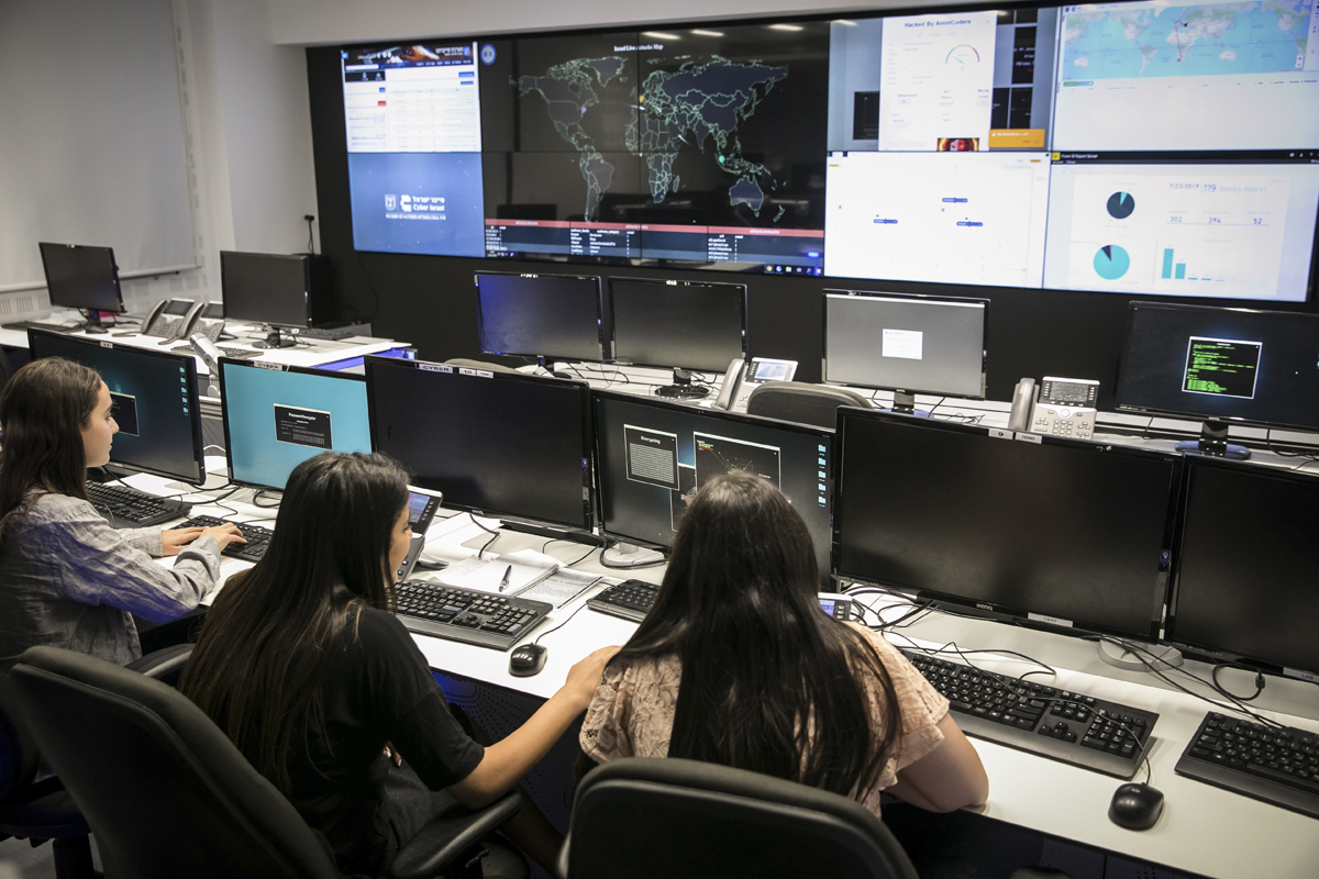 Sala del Cert donde se monitorizan ciberataques.