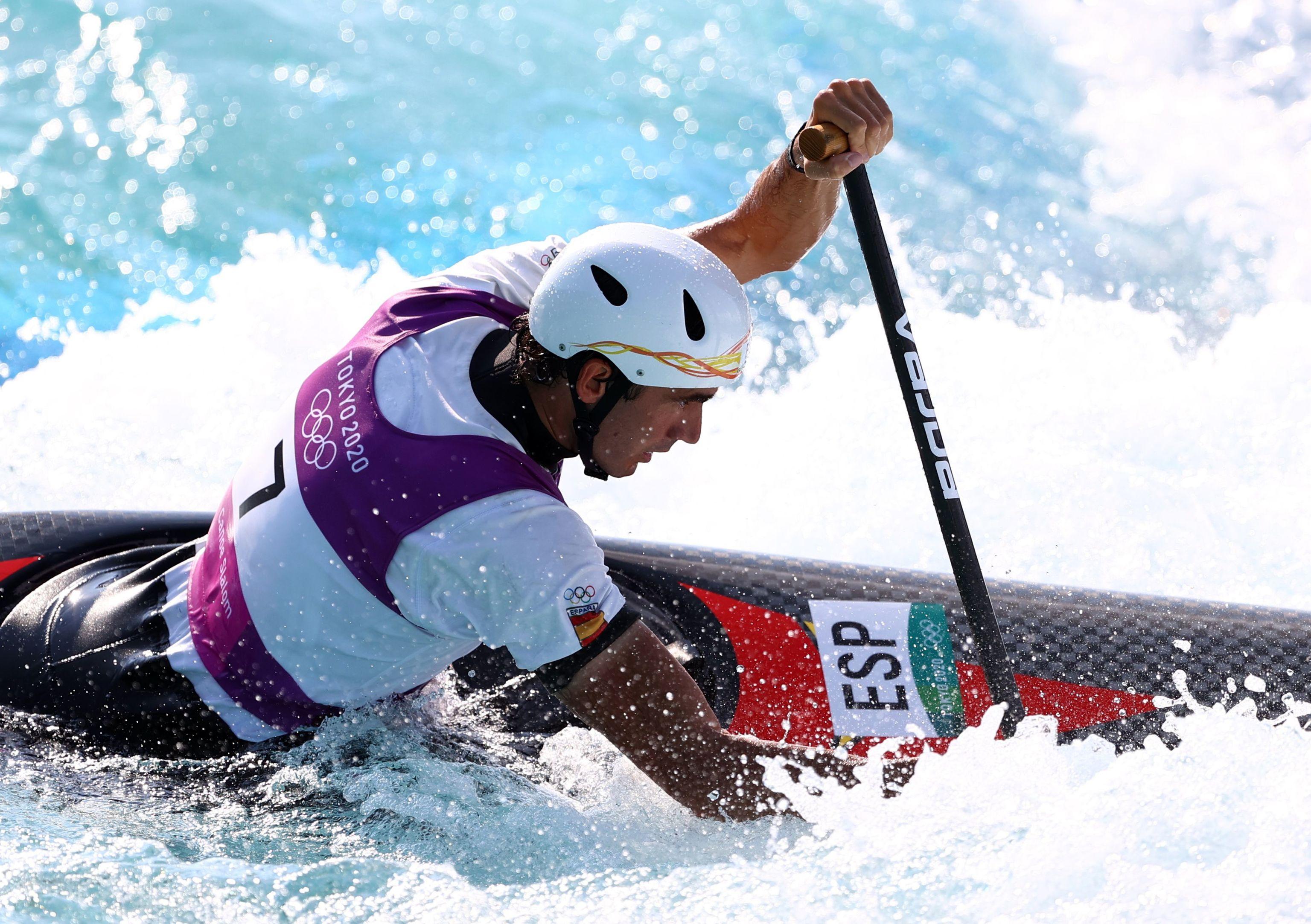 Ander Elosegi consigue el octavo puesto en la final de Slalom C-1.