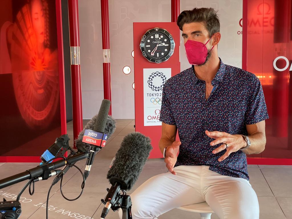 Michael Phelps, en Tokio.