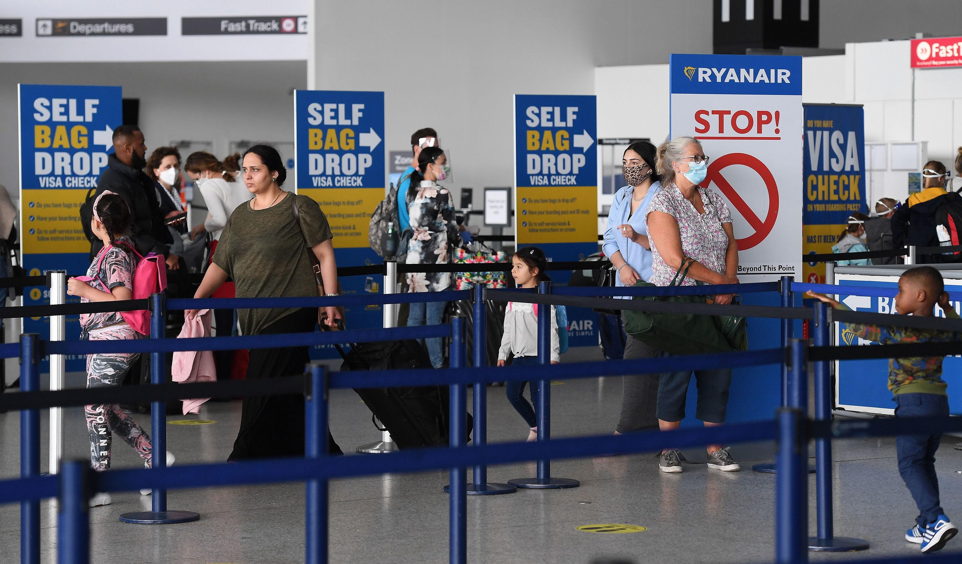 Aeropuerto londinense de Stansted, Gran Bretaña.