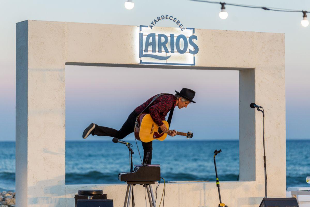 Mikel Erentxun durante su actuación el pasado 12 de julio.