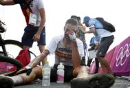 Valero, tras conseguir el bronce en el Monte Izu.