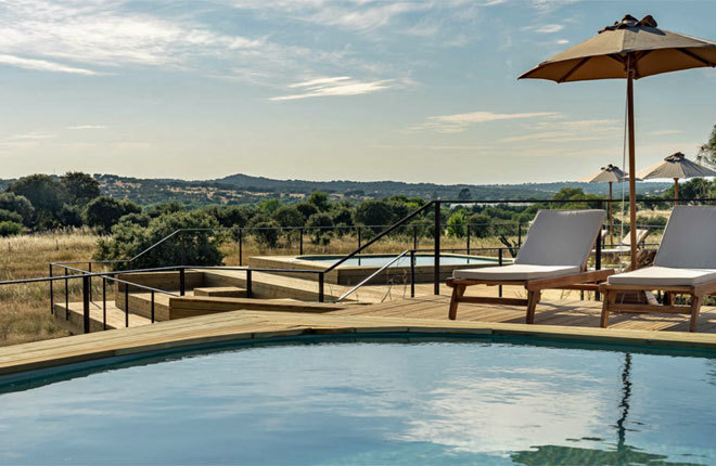 El Évora Farm Hotel se ubica a las afueras de la ciudad lusa.