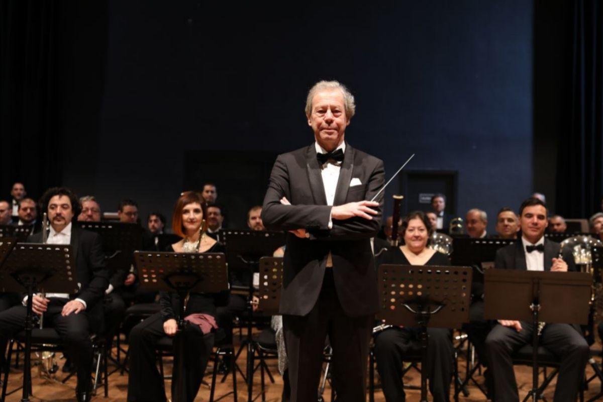 Jan Cober y la Banda SInfónica Municipal de Madrid.