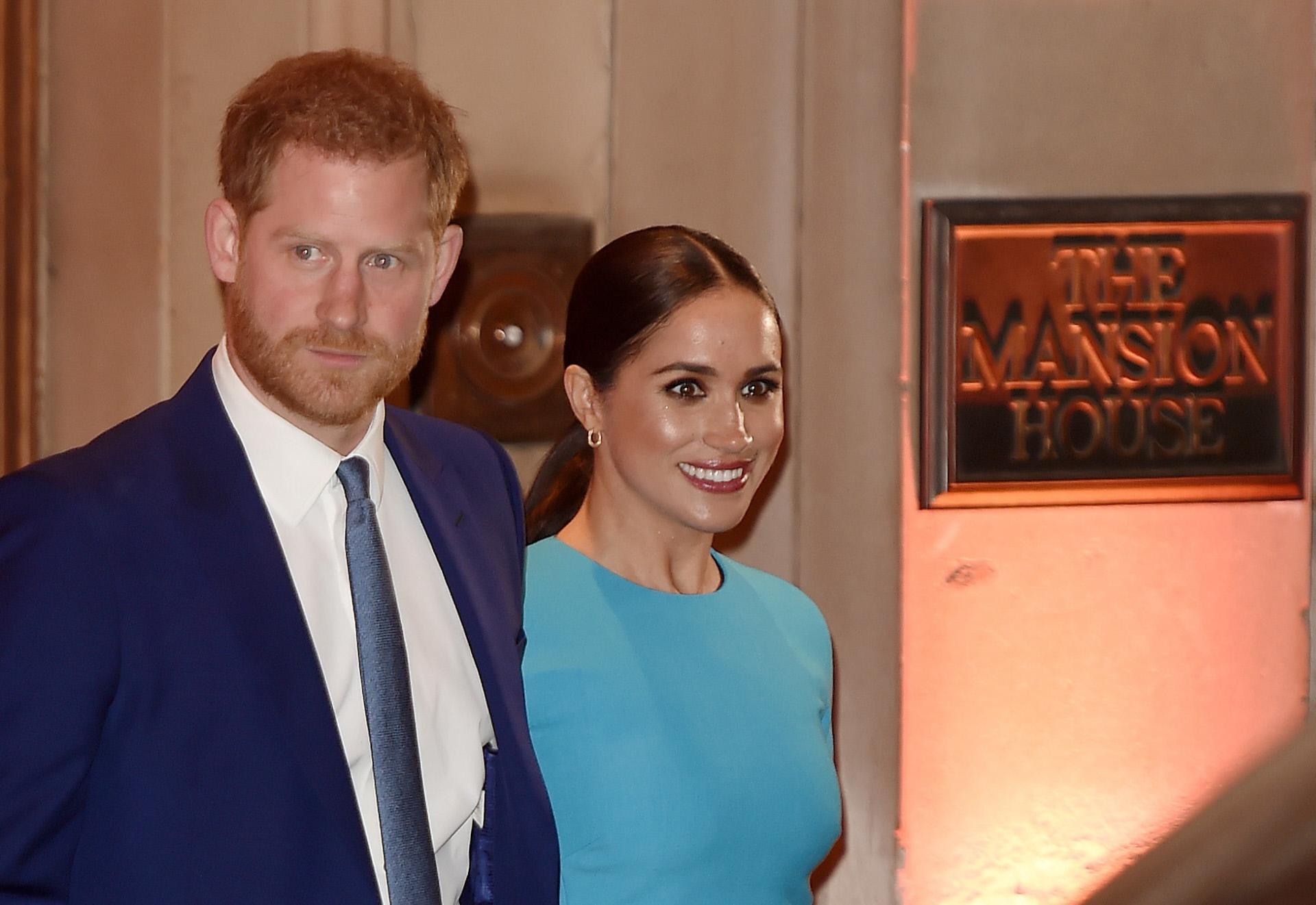 El príncipe Harry y Meghan Markle en Londres, antes de su mudanza a California.