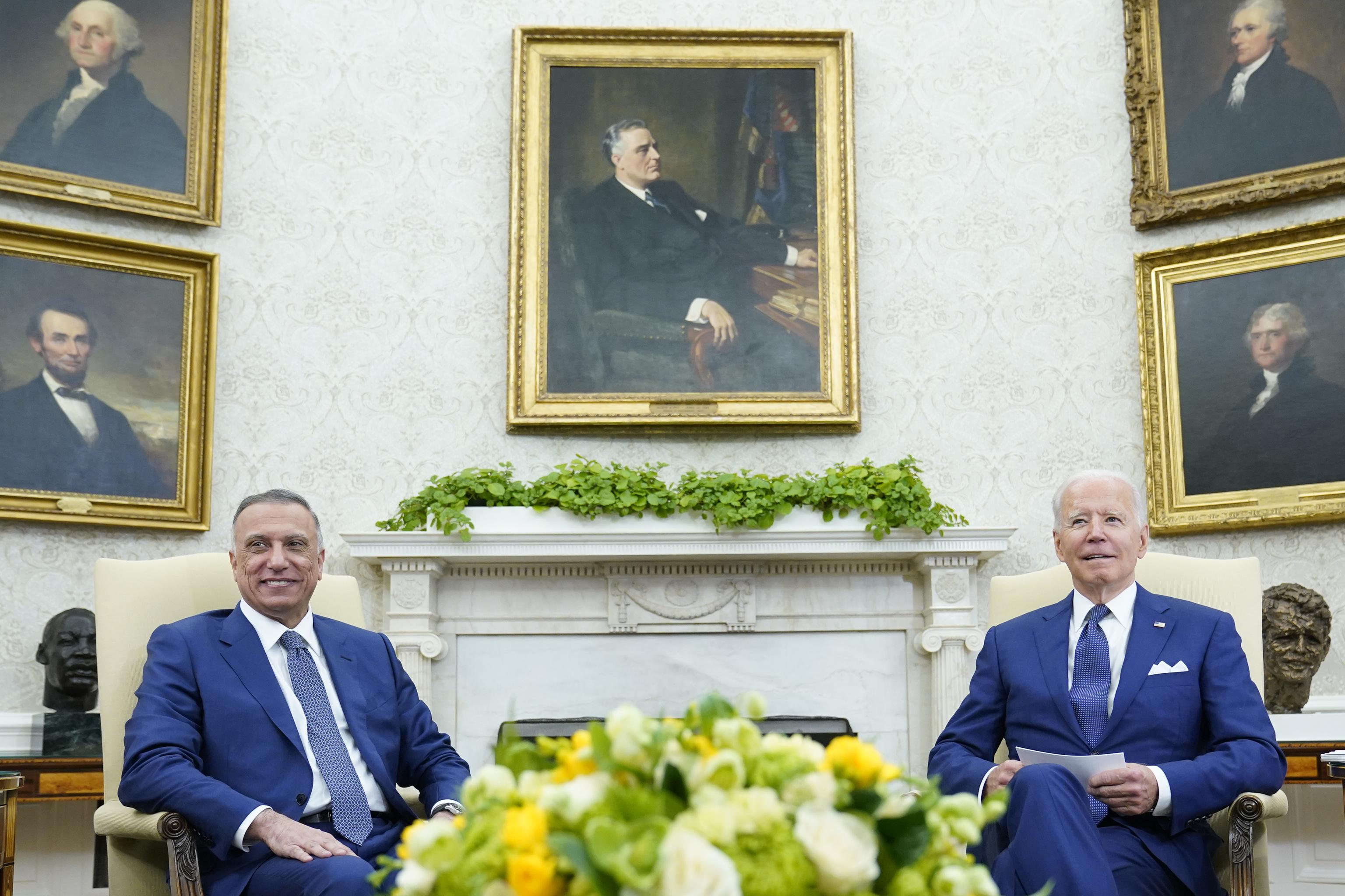 Biden se reúne con el primer ministro de Irak para anunciar el fin de las misiones de combate estadounidenses