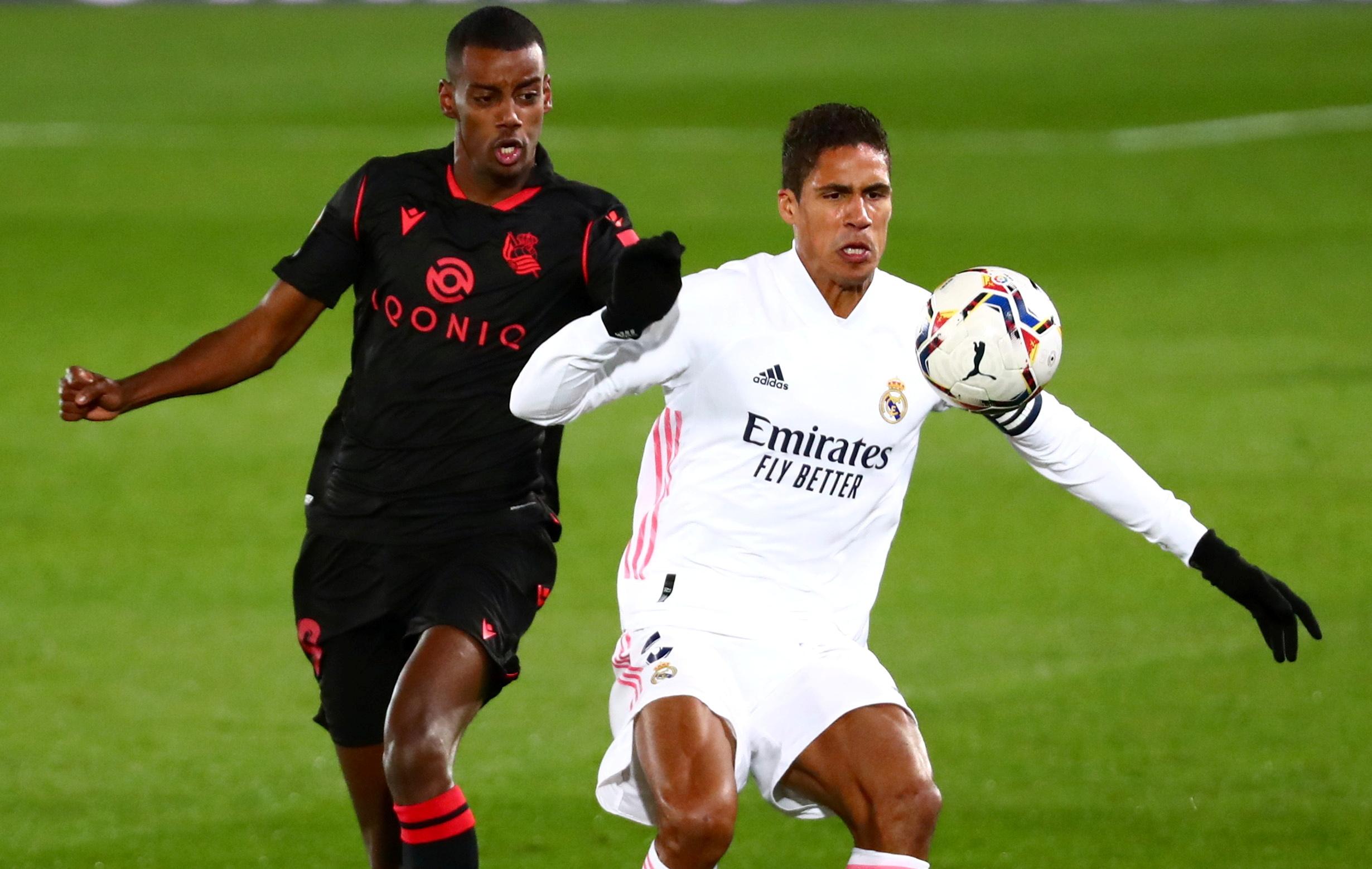 Varane, en un partido con el Madrid.