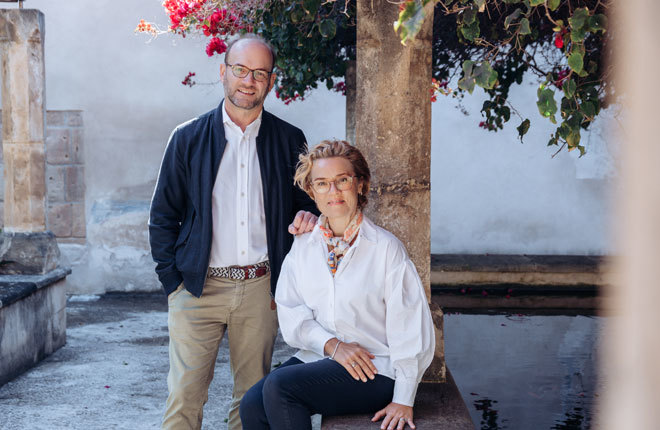 Olivier y Anna Heuchenne, pareja fundadora de Insider Mallorca.