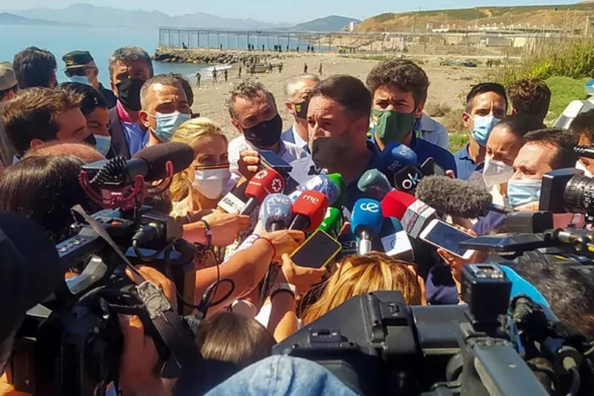 Santiago Abascal, en mayo, durante su visita a Ceuta.