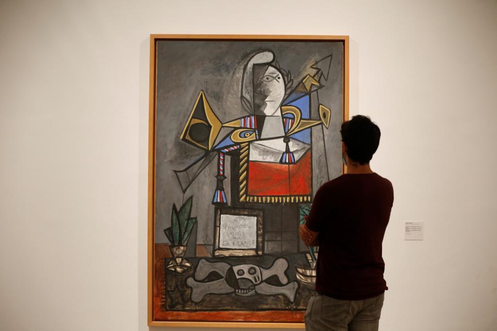 Una de las obras de Picasso expuestas en el Reina Sofía.