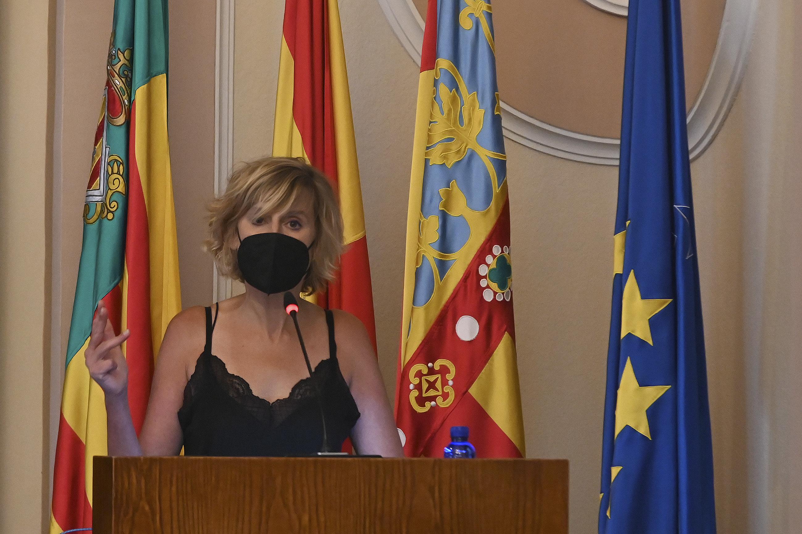 La concejala de Memoria Democrática, Verónica Ruiz.