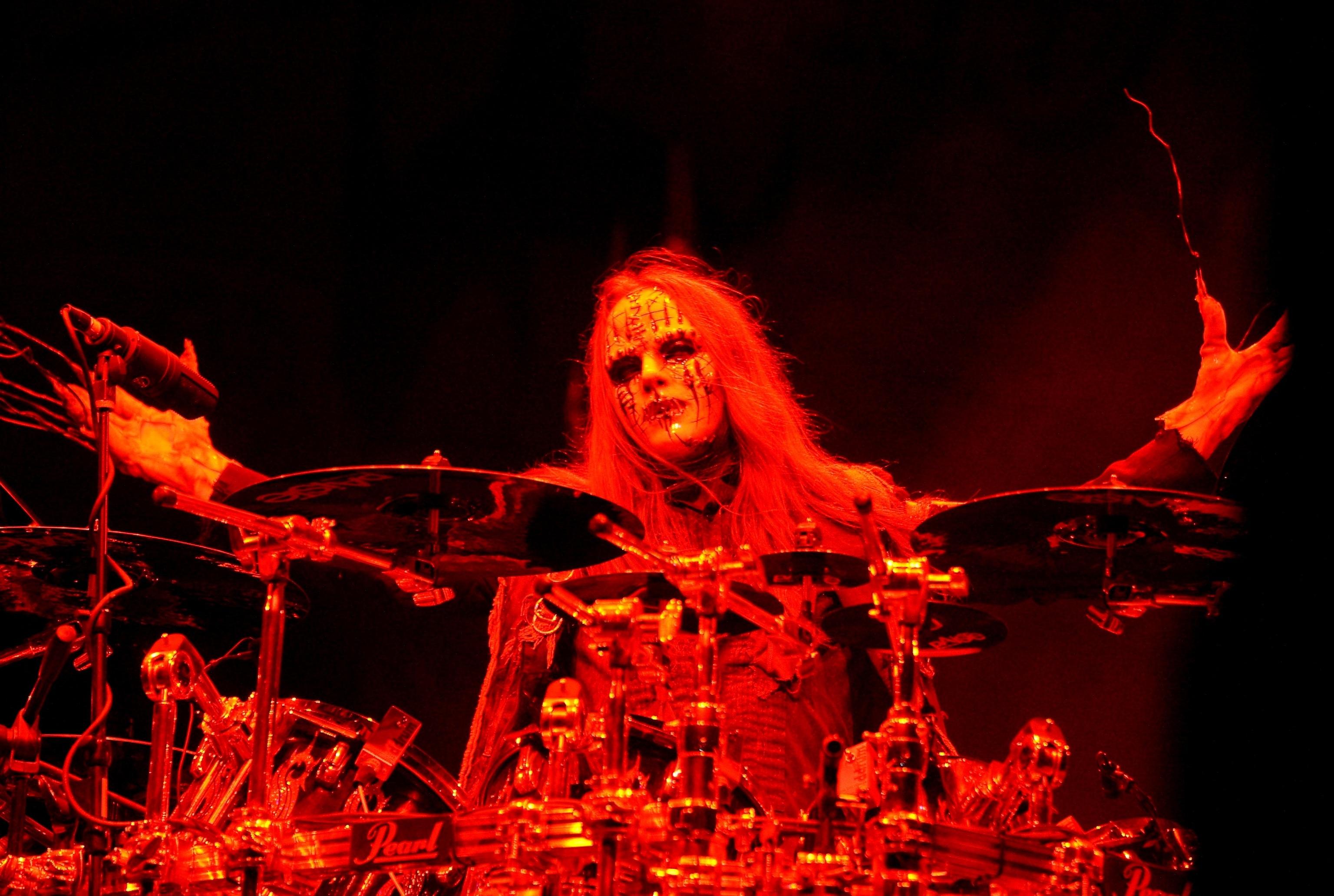 Joey Jordison, batería de Slipknot, durante un concierto en la ciudad de Columbus, Ohio, en 2009.