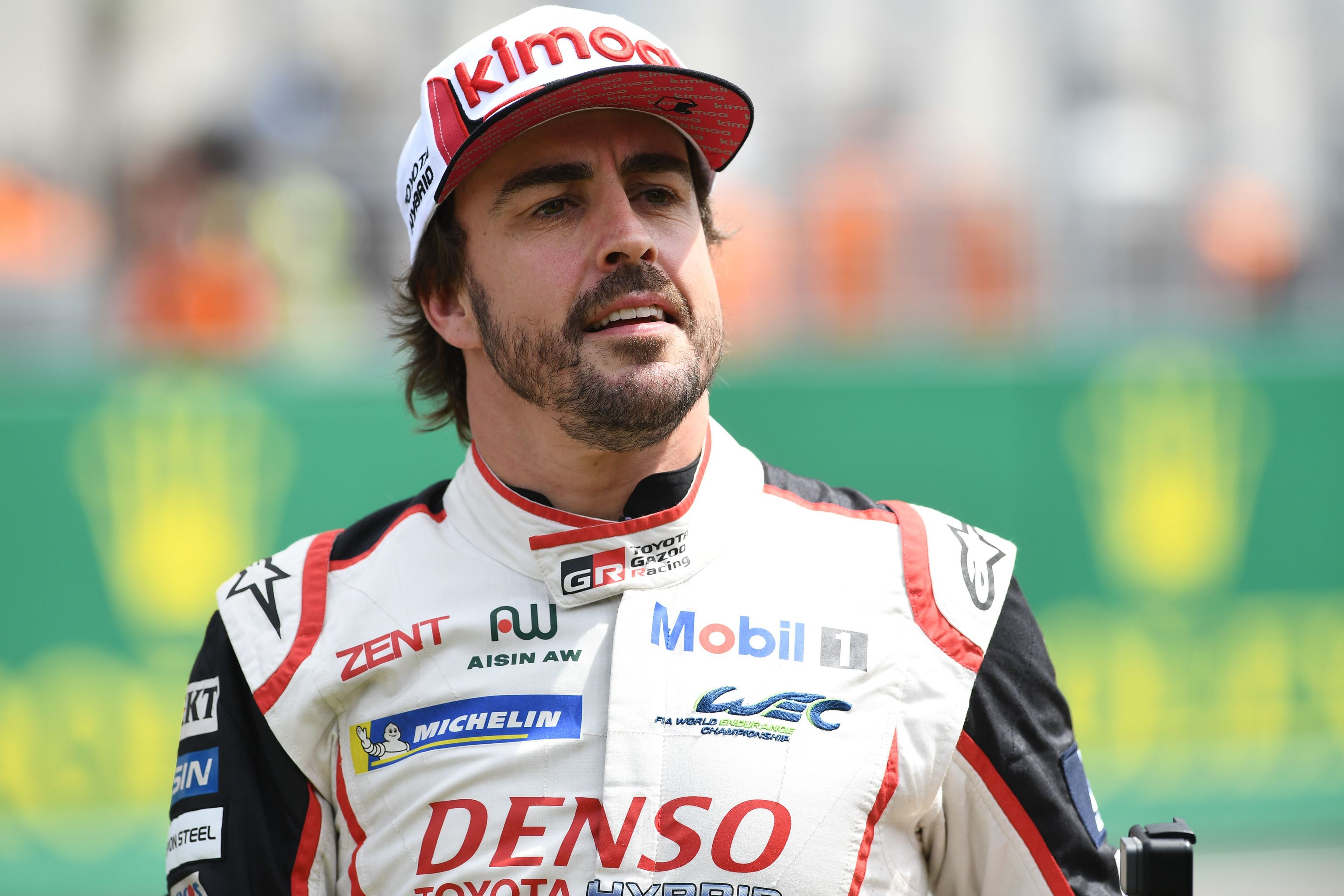 Fernando Alonso después de su victoria en las 24 horas de Le Mans