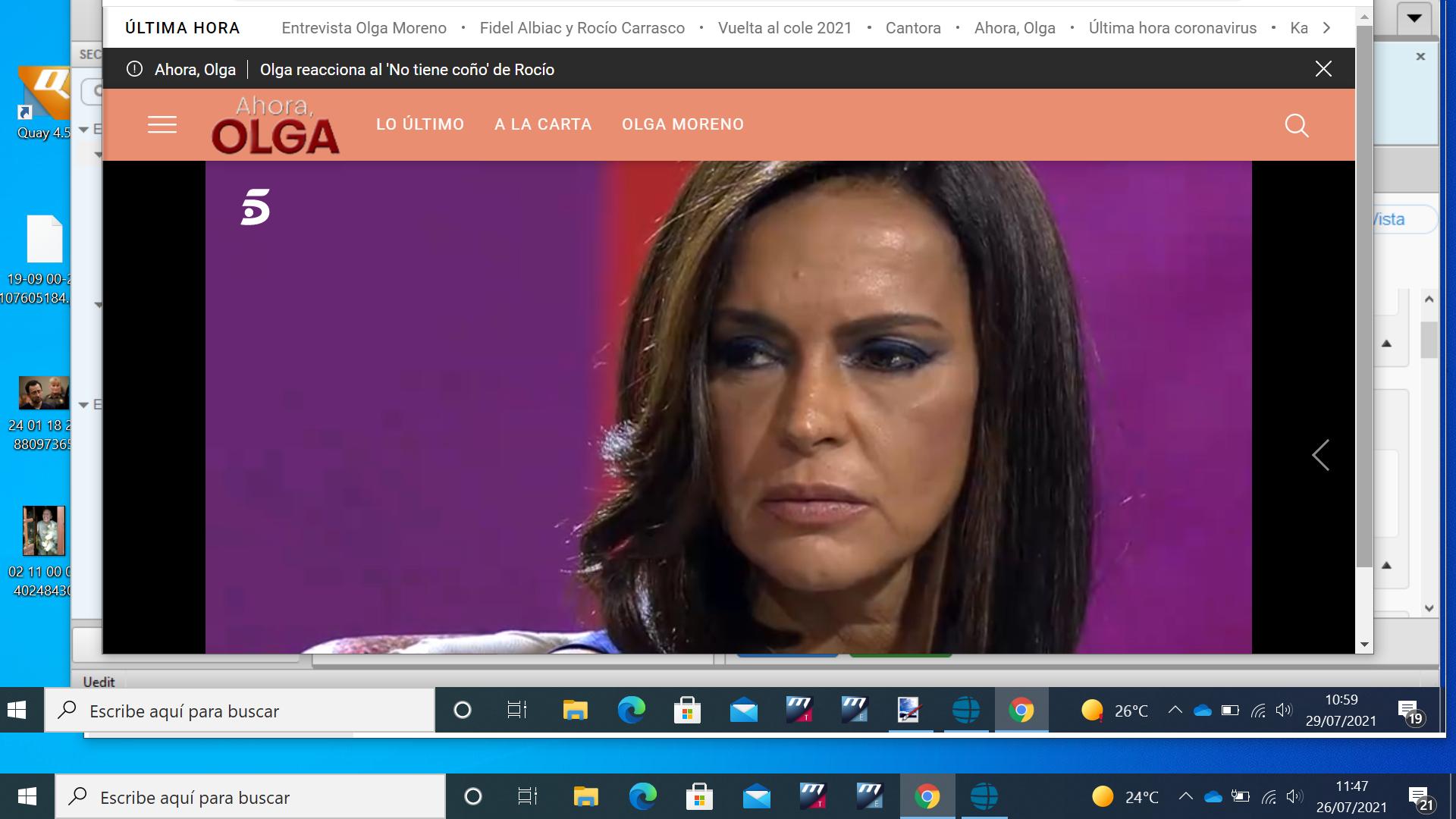 Olma Moreno en Telecinco.