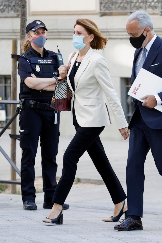 María Dolores de Cospedal, al acudir a declarar a la Audiencia el pasado junio.