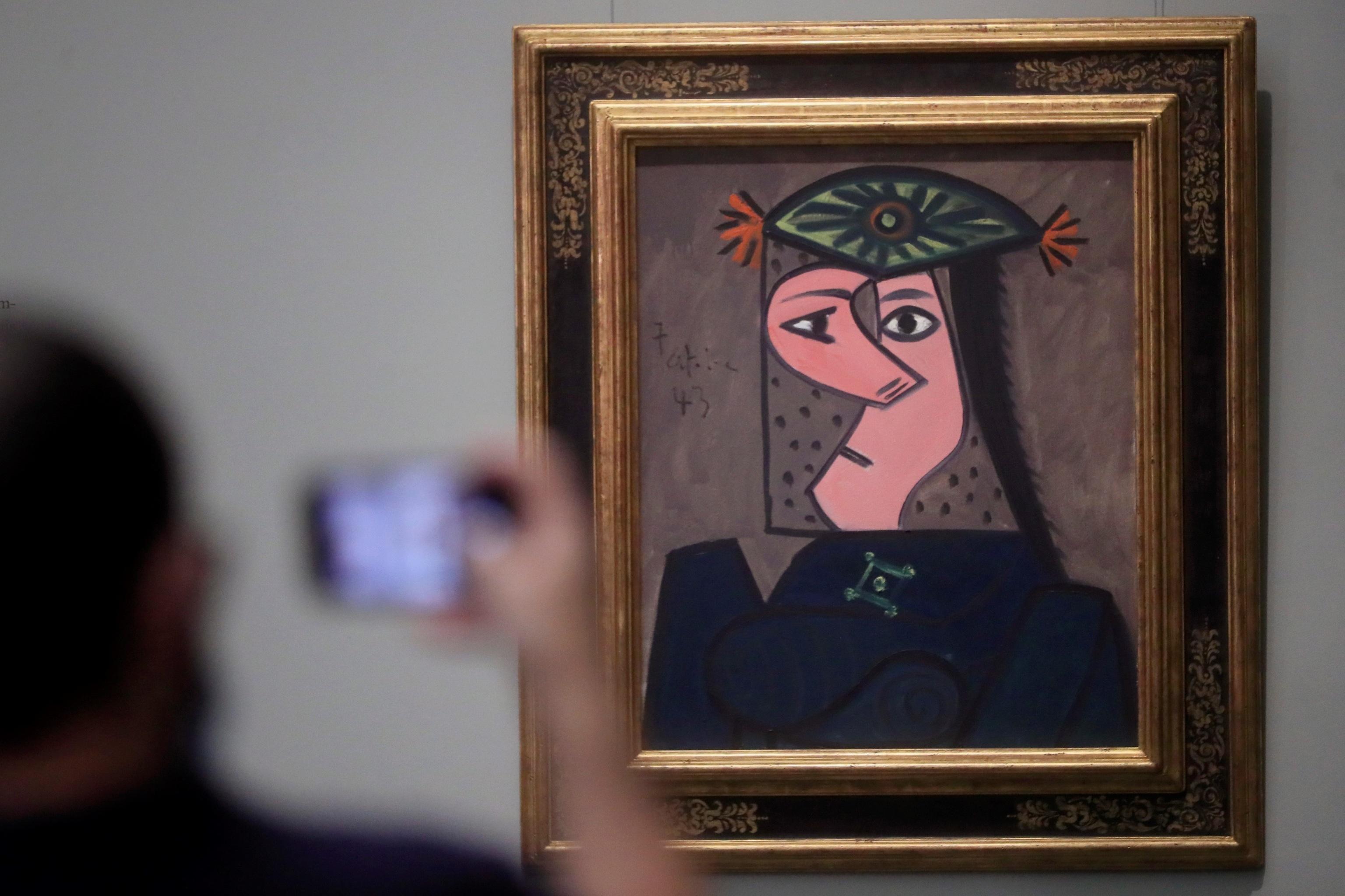 Busto de mujer, de Picasso, en el Prado.