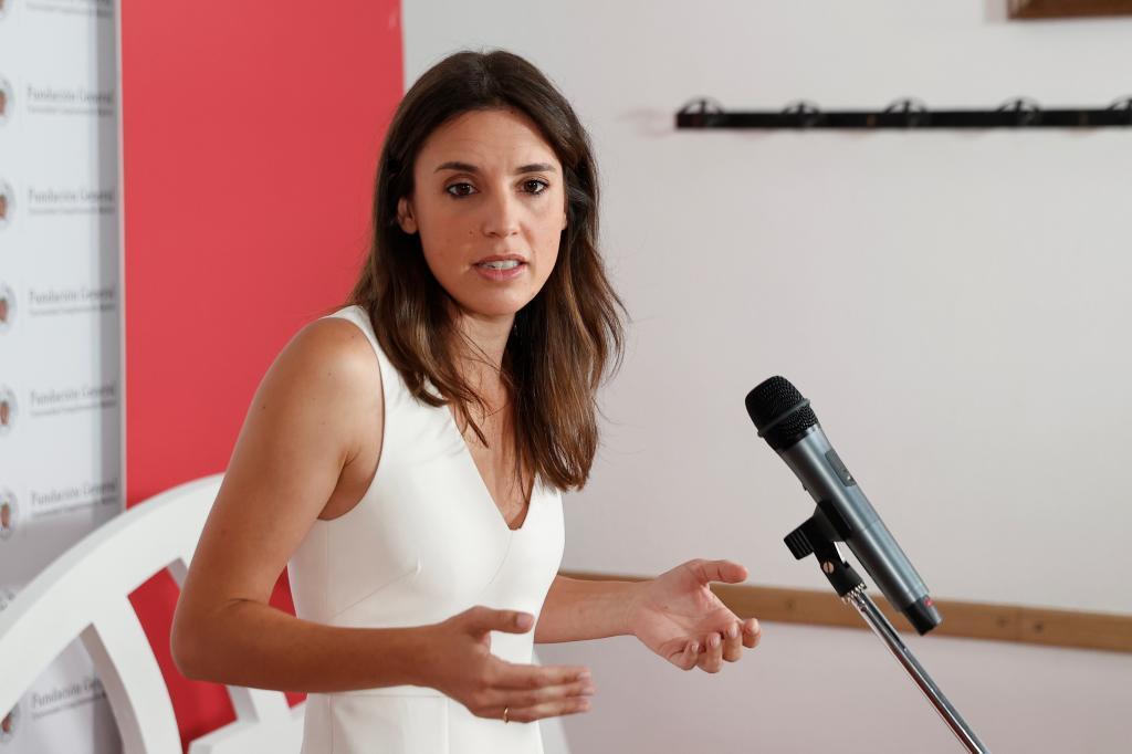 Irene Montero, en los curso de verano de El Escorial.