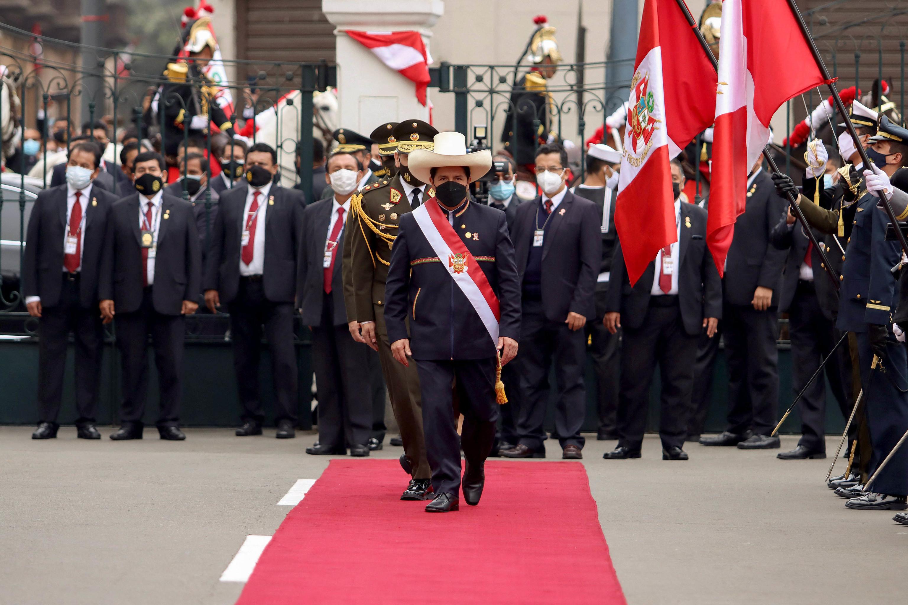 El presidente de Perú, en su ceremonia inaugural en Lima.