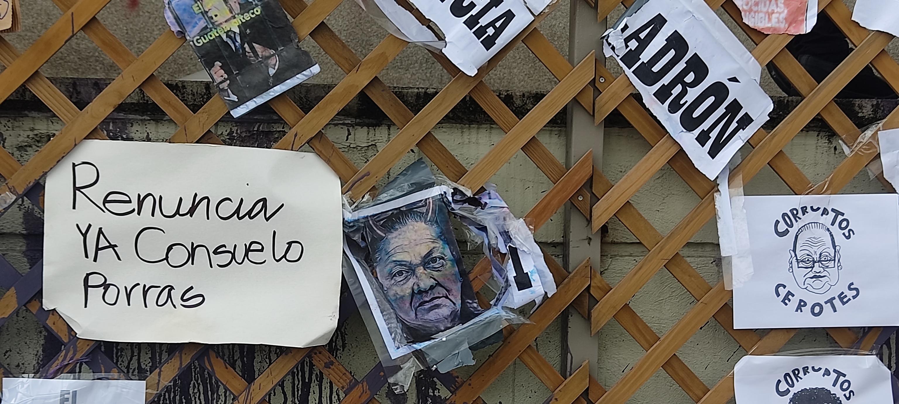 Manifestaciones en Guatemala para pedir la reunicia del presidente de Guatemala, Alejandro Giammattei, y de la fiscal general, Consuelo Porras, por supuestos actos de corrpción y el manejo de la pandemia de coronavirus.