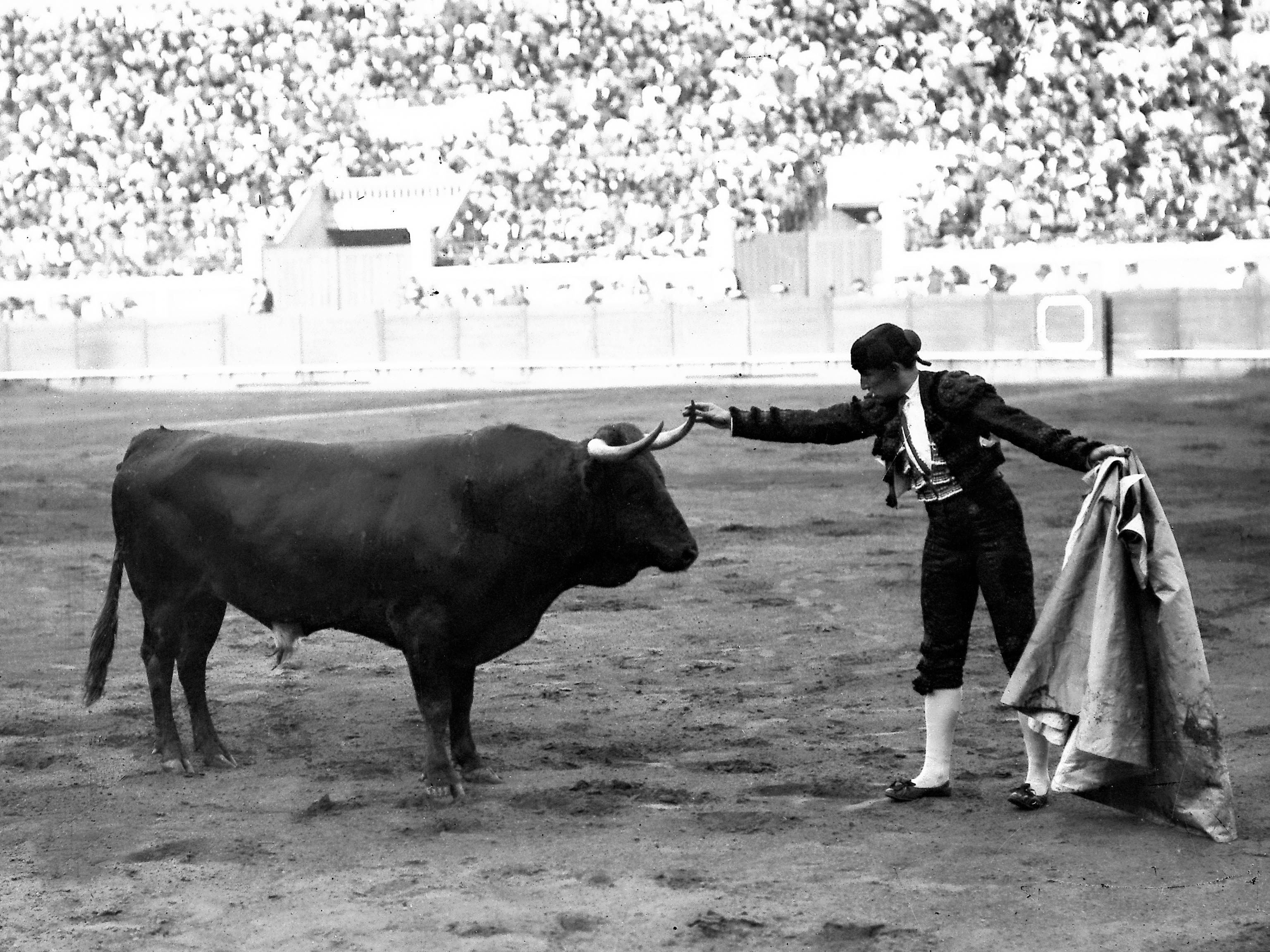 Joselito el Gallo, 'El rey de los toreros', toreando en Madrid, en la antigua plaza de Fuente del Berro