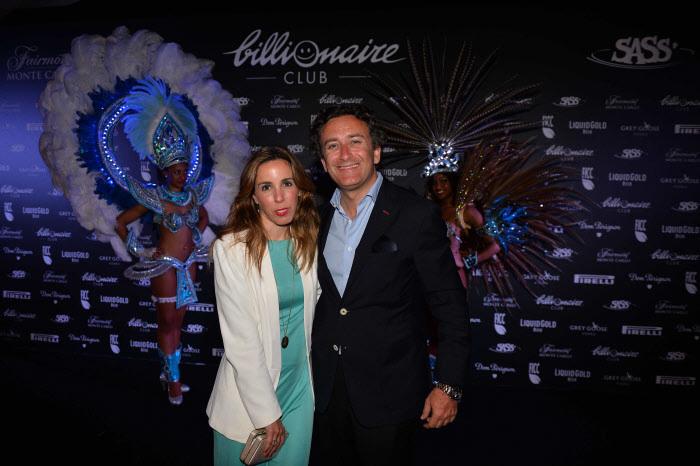 Ana Aznar y Alejandro Agag en una fiesta en Montecarlo.