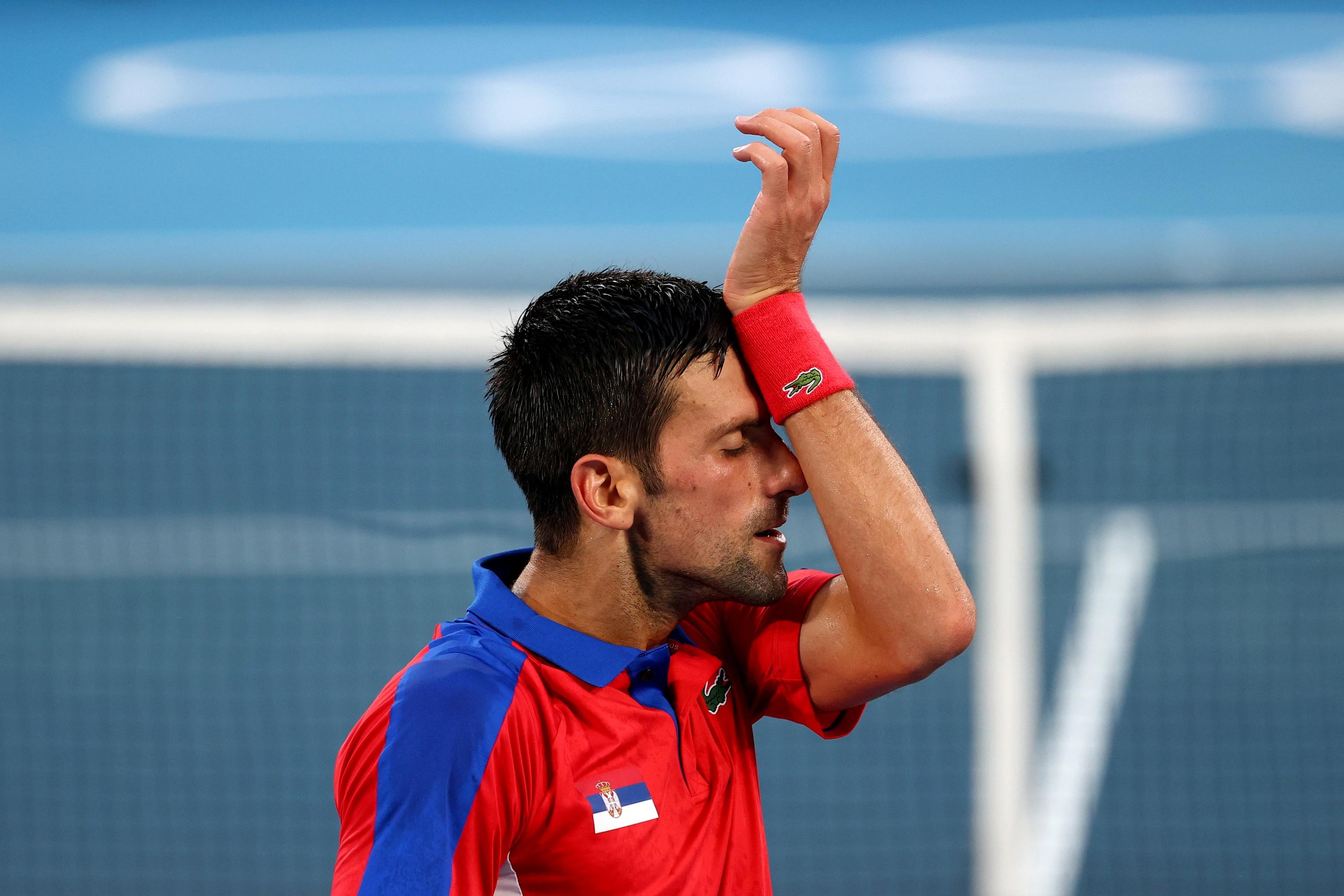 Djokovic, durante su partido ante Zverev.