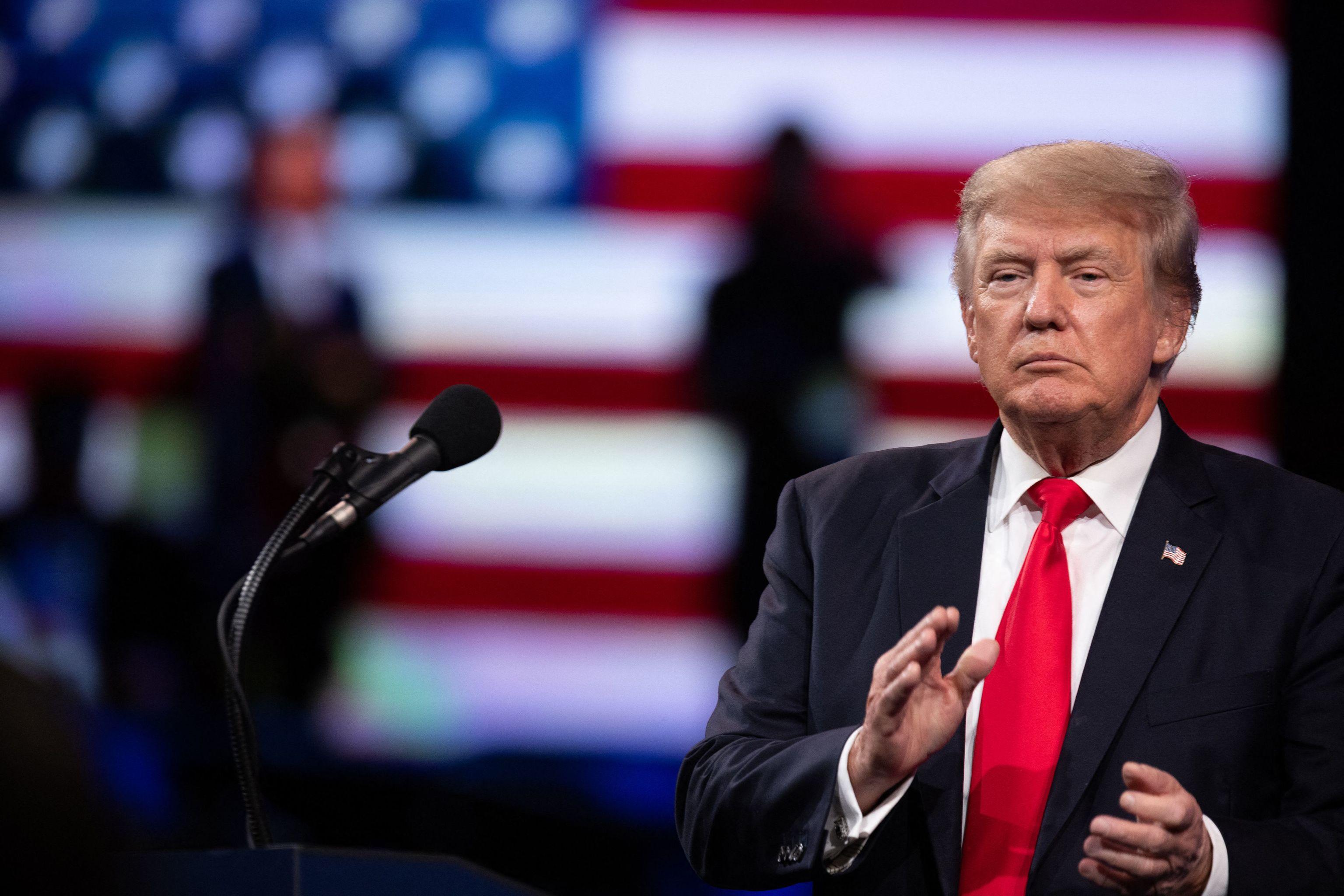 El ex presidente de EEUU Donald Trump, en Texas.